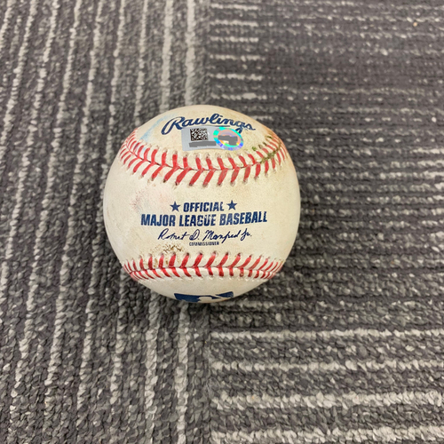 Photo of 2019 Game Used Baseball vs. Milwaukee Brewers - 6/15/19 - B-7: Junior Guerra to  Kevin Pillar RBI Single (Stephen Vogt Scores)