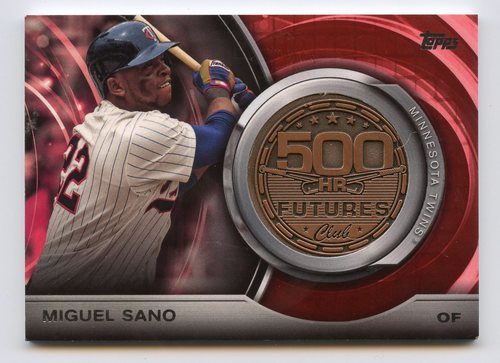 Photo of 2016 Topps Update 500 HR Futures Club Medallions #500M20 Miguel Sano