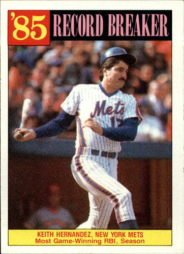 Photo of 1986 Topps #203 Keith Hernandez RB
