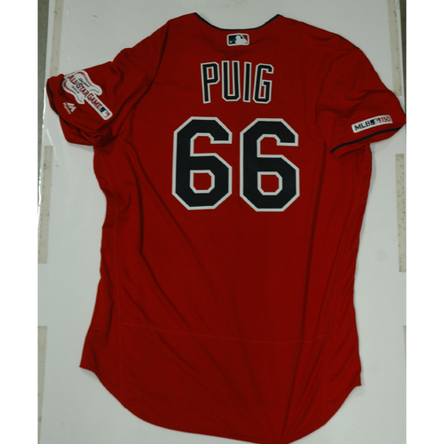 Photo of Yasiel Puig 2019 Team Issued Alternate Home Jersey