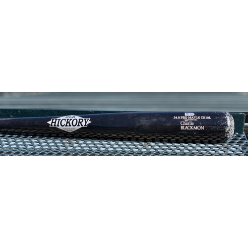 Photo of Colorado Rockies Game-Used Cracked Bat - Charlie Blackmon Foul  - August 22, 2020.