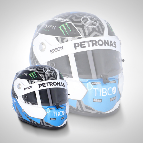 Photo of Valtteri Bottas 2019 1:2 Scale Helmet