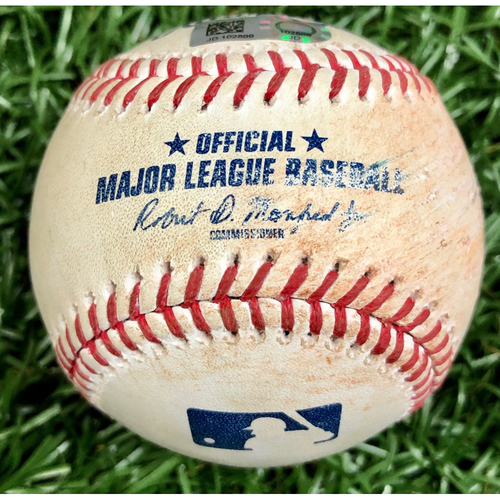 Photo of Game Used Baseball: Didi Gregorius single off Charlie Morton - September 25, 2020 v PHI