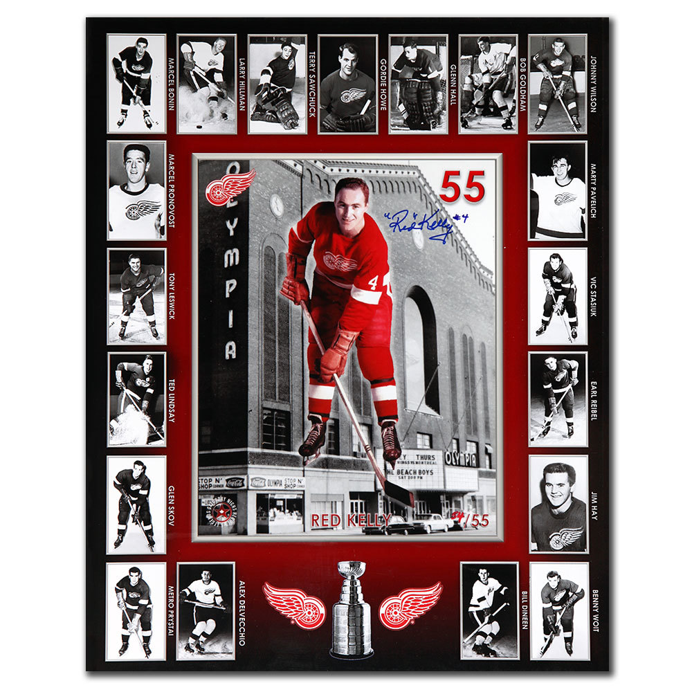 Red Kelly Detroit Red Wings Autographed 16X20