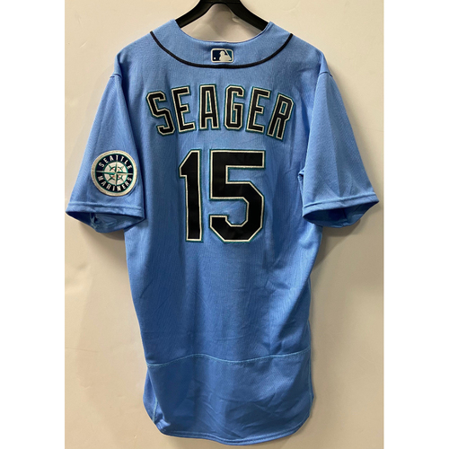 Photo of Team Issued 2020 Jersey - Kyle Seager #15 Light Blue Jersey
