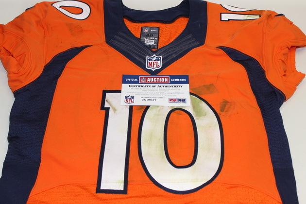 new arrival 82602 35b5b NFL Auction | BCA - BRONCOS EMMANUEL SANDERS GAME WORN ...