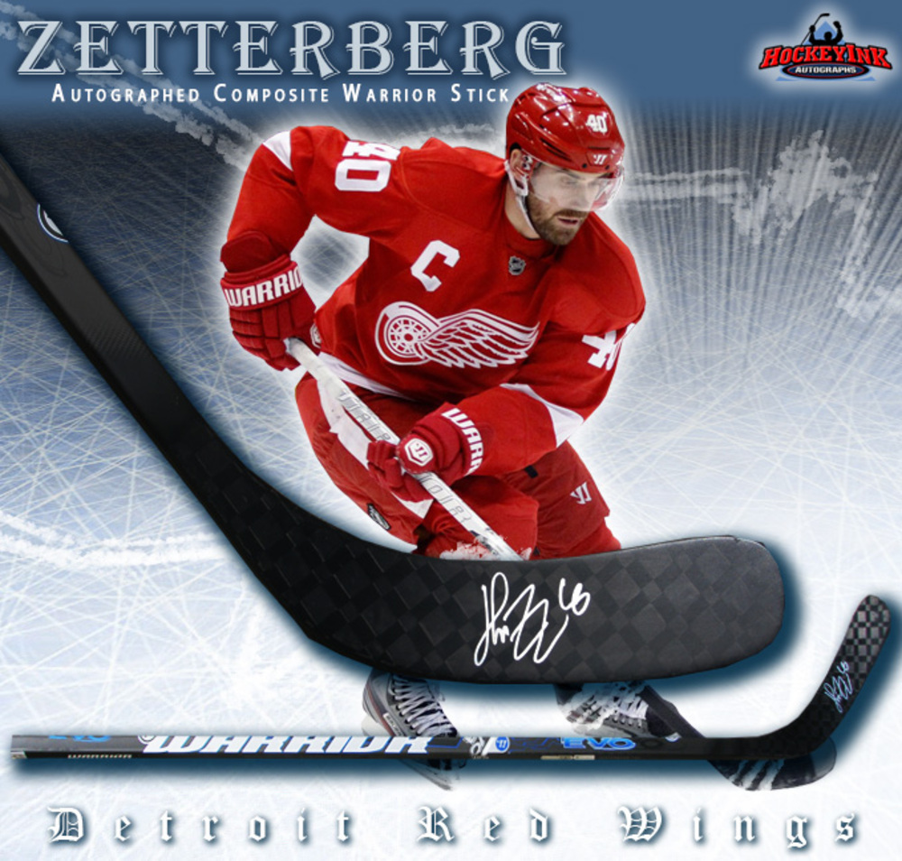 HENRIK ZETTERBERG Signed Warrior Composite Stick - Detroit Red Wings
