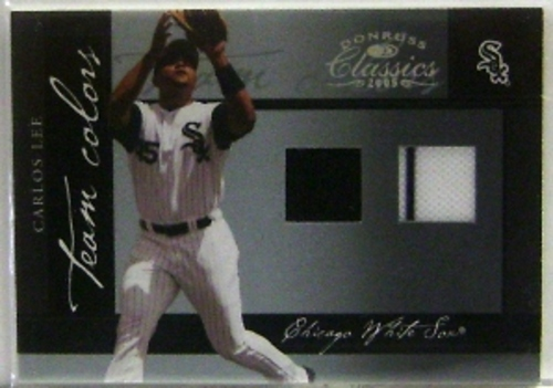 Photo of 2005 Donruss Classics Team Colors Materials #8 Carlos Lee Jsy-Jsy/100