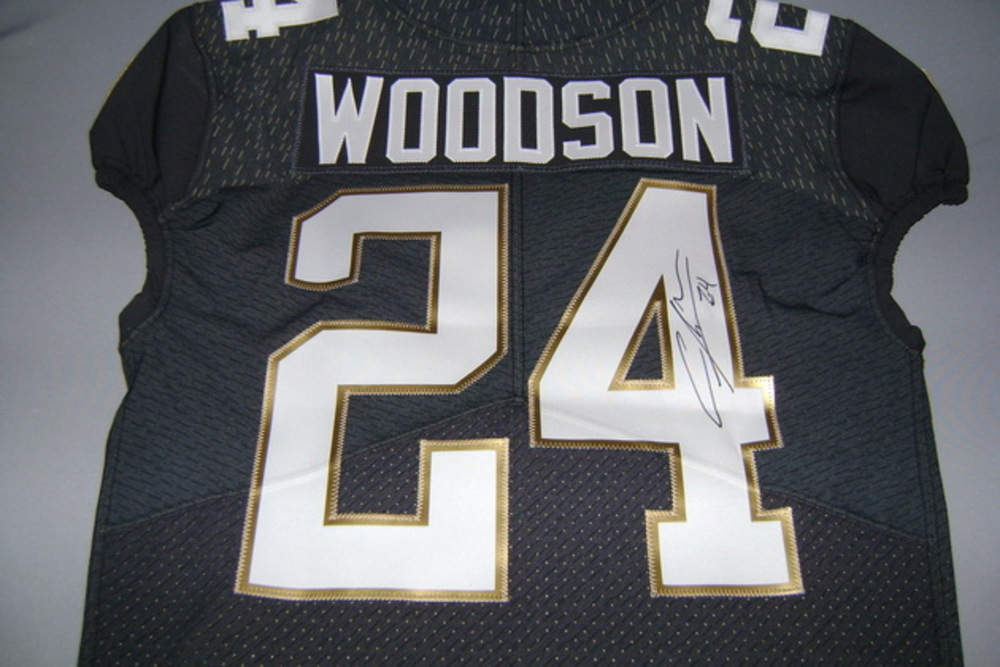 NFL Auction | NFL - RAIDERS CHARLES WOODSON GAME ISSUED AND SIGNED ...