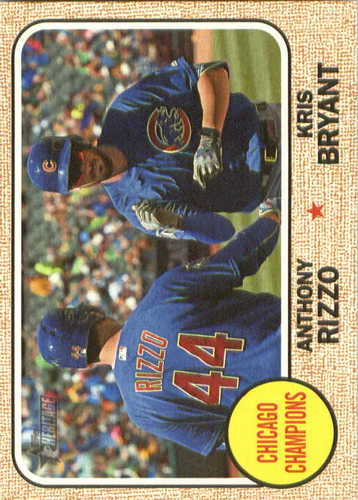 Photo of 2017 Topps Heritage Combo Cards #CC1 Anthony Rizzo/Kris Bryant