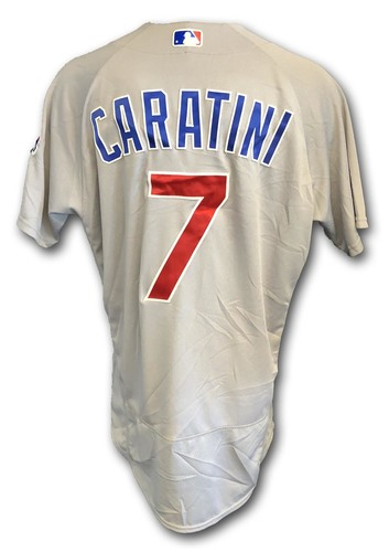 Photo of Victor Caratini Game-Used Jersey -- Cubs at White Sox -- 9/22/18