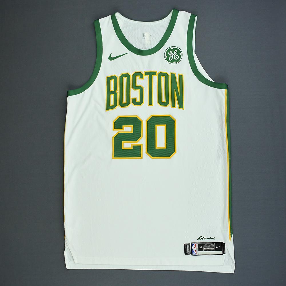 reputable site 54e1b 2ae72 Gordon Hayward - Boston Celtics - Game-Worn City Edition ...