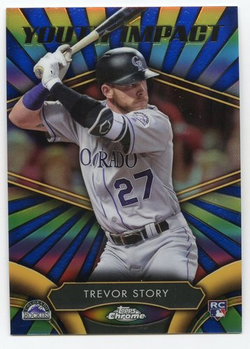 Photo of 2016 Topps Chrome Youth Impact #YI10 Trevor Story