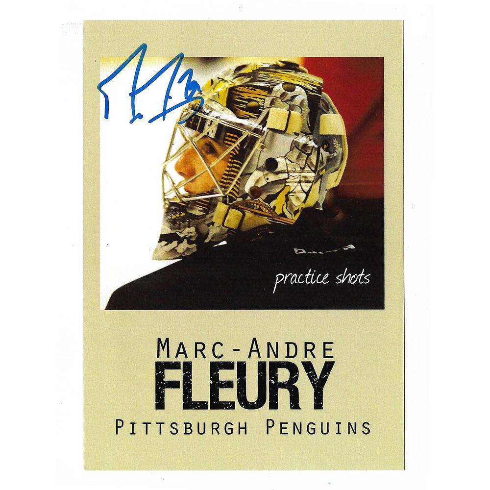 Marc-Andre Fleury Autographed Practice Shots 5X7 Photo
