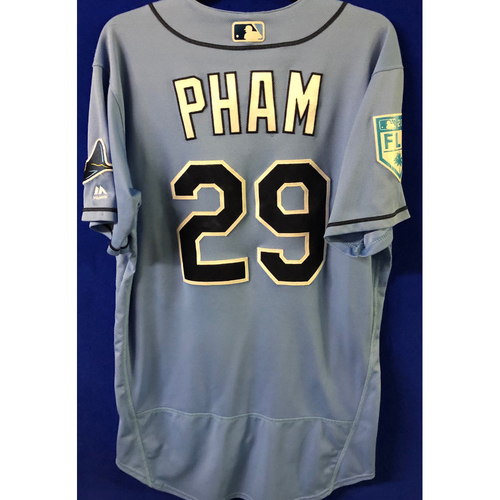 Photo of Game Used Spring Training Jersey: Tommy Pham (2-3, 2 Doubles)- February 22, 2019 v PHI