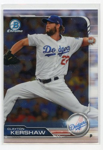 Photo of 2019 Bowman Chrome #64 Clayton Kershaw
