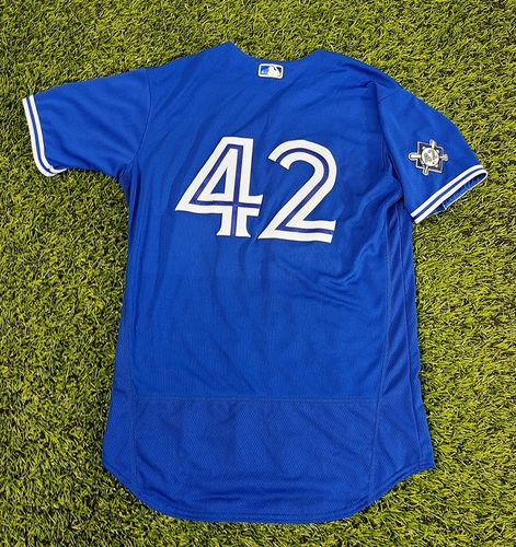 Photo of CHARITY AUCTION: Authenticated Game Used #42 Jersey: Pete Walker (Aug 28 and 30, 20). Size 44.