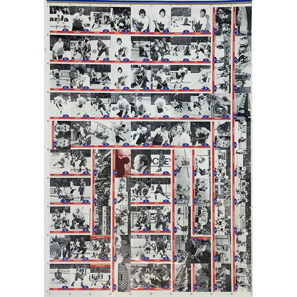 RARE - 1991-92 Future Trends 1972 Summit Series Uncut Card Sheet