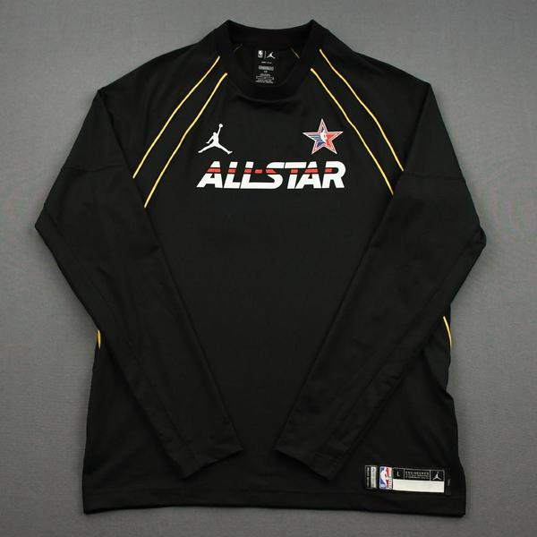 Image of KawhiLeonard - Game-Issued 2021 NBA All-Star Long-Sleeved Shooting Shirt