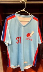 Photo of Jacksonville Expos Fauxback Jersey #31 Size 48