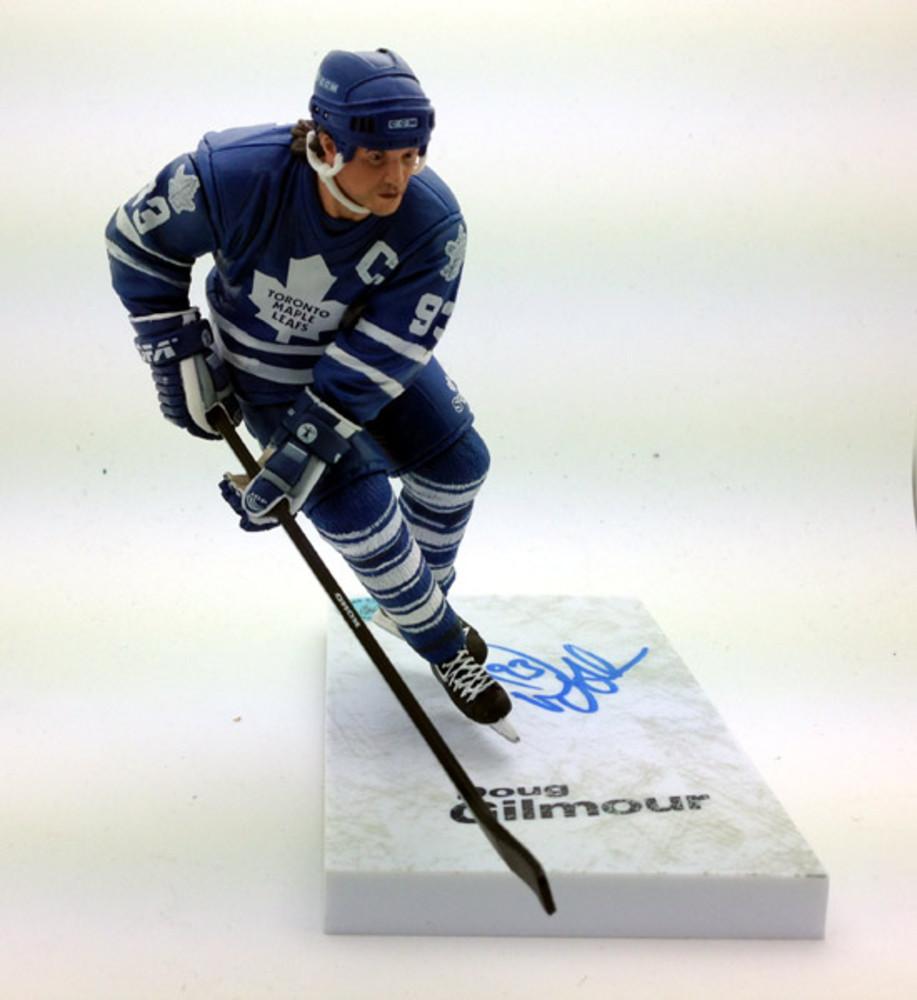 Doug Gilmour Toronto Maple Leafs Autographed McFarlane Figure