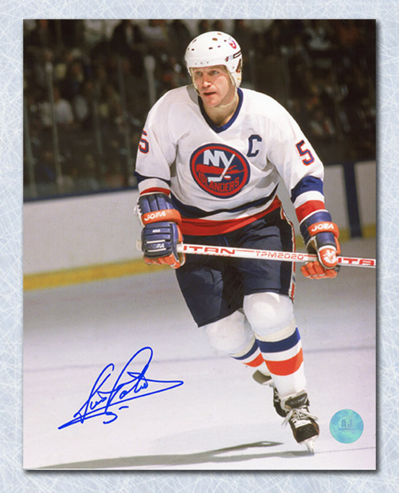 Denis Potvin New York Islanders Autographed Skating 8x10 Photo