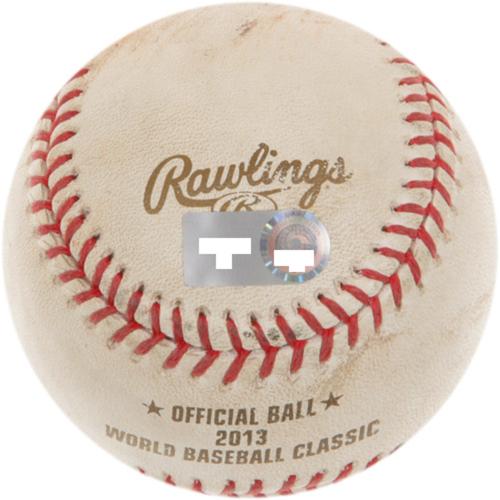 2013 World Baseball Classic: (PUR vs. USA) - Round 2 - BATTER - DAVID WRIGHT, PITCHER - XAVIER CEDENO, BOTTOM OF 8, 3 RBI DOUBLE