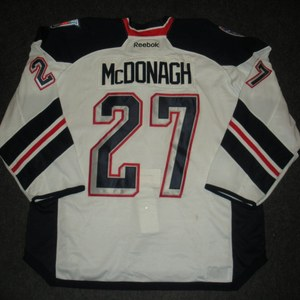 Ryan McDonagh - 2014 Stadium Series - New York Rangers - White Game-Worn Jersey - Worn in First Period - 1/26/14 & 1/29/14