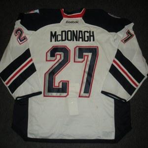 Ryan McDonagh - 2014 Stadium Series - New York Rangers - White Game-Worn Jersey - Worn in First Period - 1/26/14 & 1/29/14