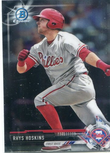 Photo of 2017 Bowman Chrome Prospects #BCP117 Rhys Hoskins