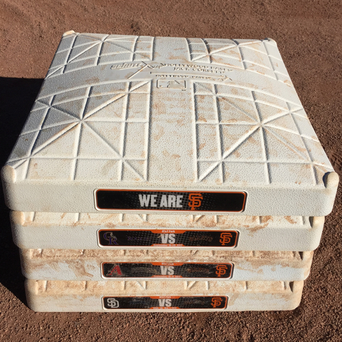 Photo of San Francisco Giants - 2017 Game-Used On-Field Base - NL West Teams