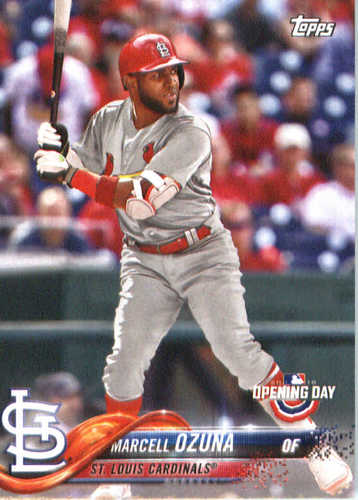 Photo of 2018 Topps Opening Day #195 Marcell Ozuna