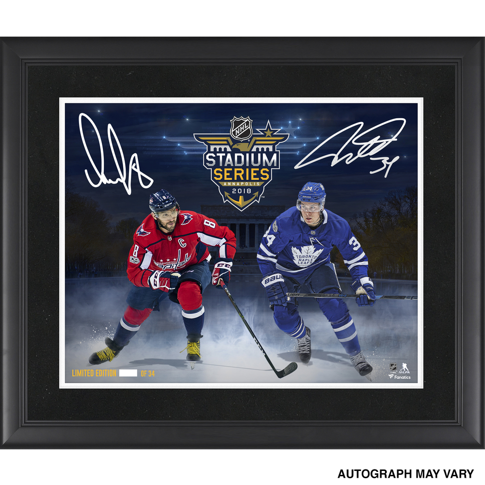 Auston Matthews Toronto Maple Leafs & Alex Ovechkin Washington Capitals Framed Autographed 16