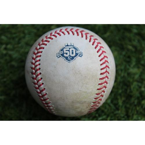 Photo of Game-Used Baseball: Matt Carpenter 967th Career Hit (STL @ KC - 8/12/18)