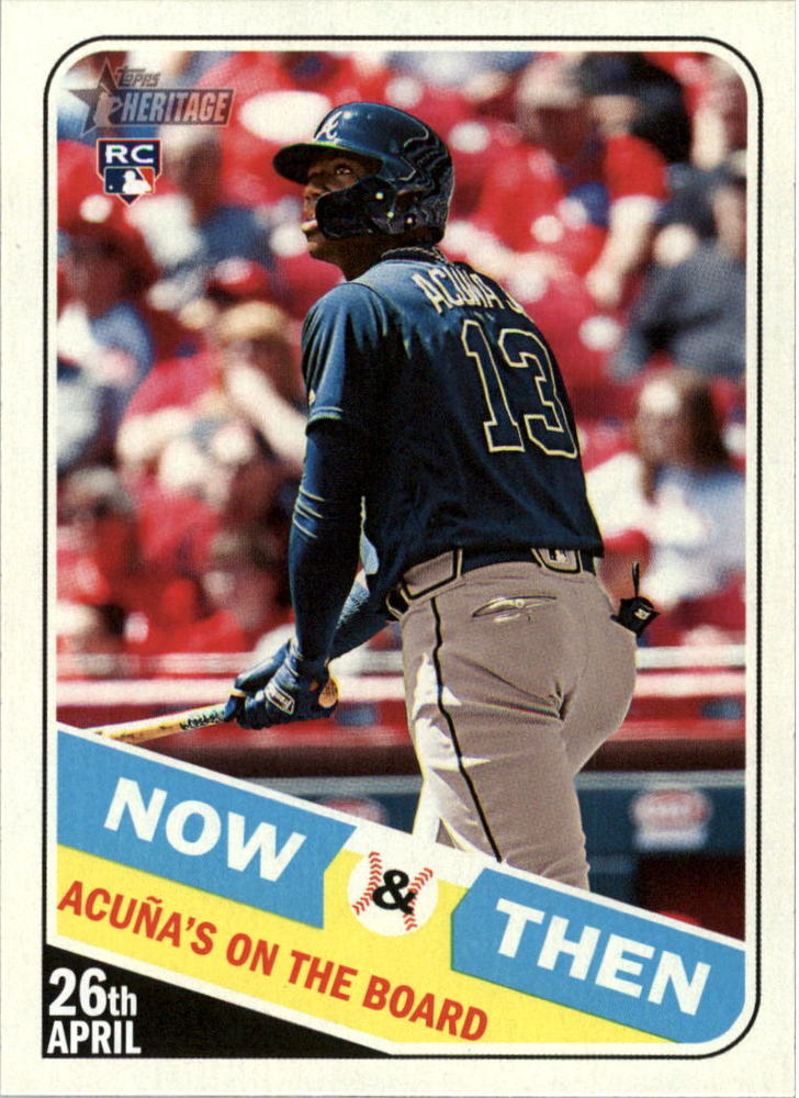 2018 Topps Heritage Now and Then #NT14 Ronald Acuna Jr.