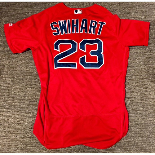 Photo of Boston Red Sox Blake Swihart 2016 Game-Used Spring Training Jersey