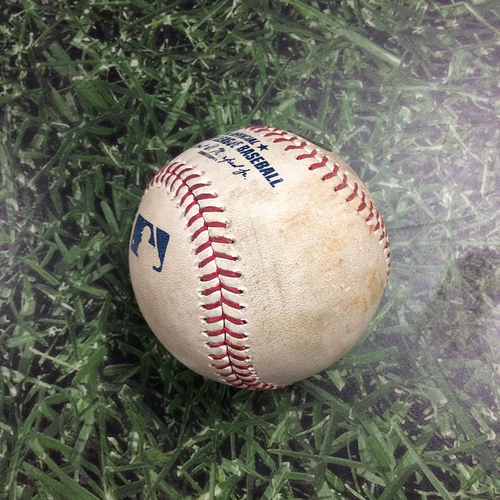 Game-Used Baseball CIN@MIL 05/21/19 - Sonny Gray - Keston Hiura: Ball (Hiura's Home Debut Game)