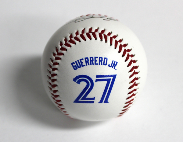 Toronto Blue Jays Guerrero Jr. Screen Print Signature Ball