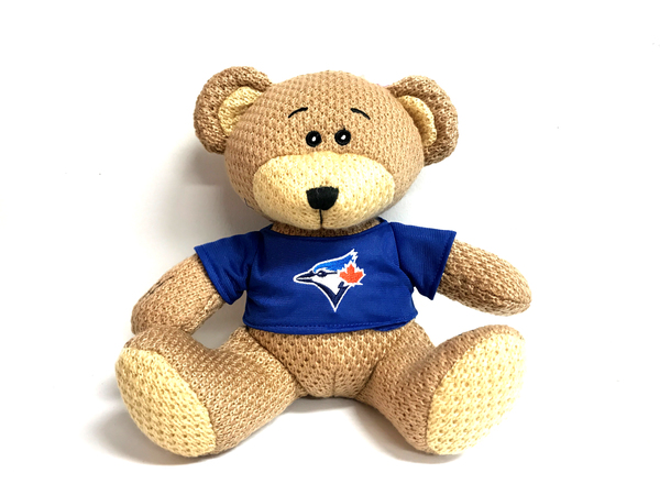 Toronto Blue Jays Crochet Teddy Bear by Forever Collectibles