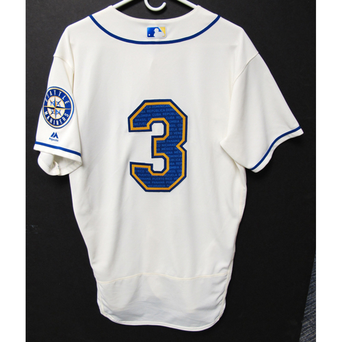 Photo of Seattle Mariners J.P. Crawford Game-Used Marineros Jersey (Salute to Latin American) 9-15-2019