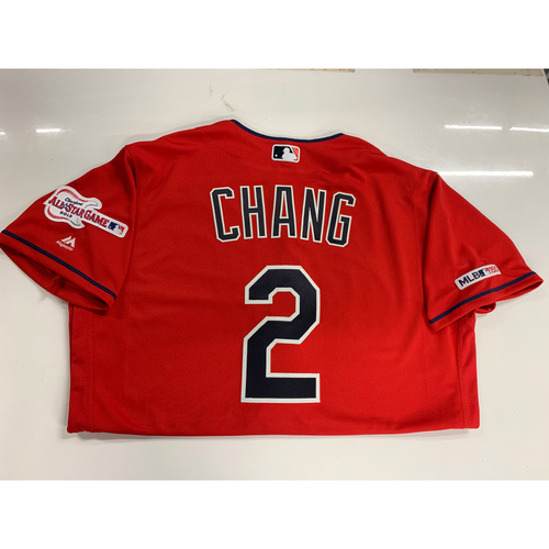 Photo of Yu-Cheng Chang 2019 Team Issued Alternate Home Jersey with ASG Patch