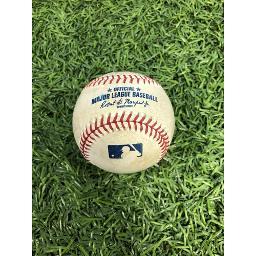 Photo of Game Used Baseball: Niko Goodrum strikeout and Brandon Dixon double off Oliver Drake - August 16, 2019 v DET