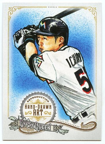 Photo of 2017 Topps Gypsy Queen Hand Drawn Art Reproductions #GQARI1 Ichiro