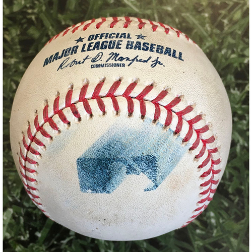 Photo of Game-Used Baseball PIT@MIL 08/29/20 - J.T. Brubaker - Keston Hiura: Foul
