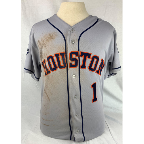 Photo of Carlos Correa 2019 World Series Game Used Jersey
