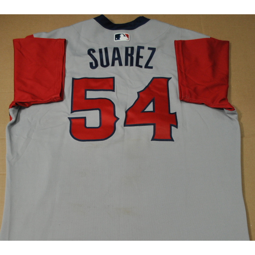 Photo of Game-used Jersey - 2021 Little League Classic - Los Angeles Angels vs. Cleveland Indians - 8/22/2021 - West, Jose Suarez #54