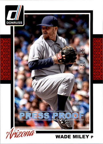 Photo of 2014 Donruss Press Proofs Silver #261 Wade Miley