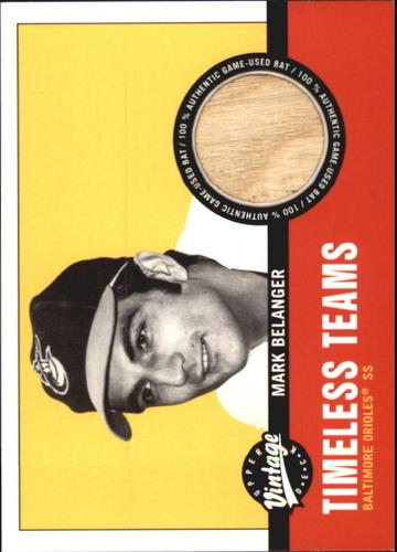 Photo of 2001 Upper Deck Vintage Timeless Teams #BAMB Mark Belanger Bat