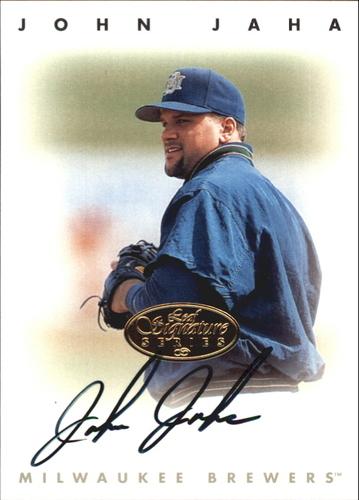 Photo of 1996 Leaf Signature Autographs Gold #116 John Jaha