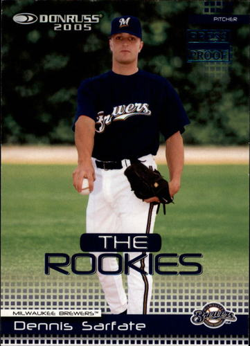 Photo of 2005 Donruss Rookies Press Proofs Blue #13 Dennis Sarfate